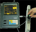 Ultrasonic/magnetic flaw Detector